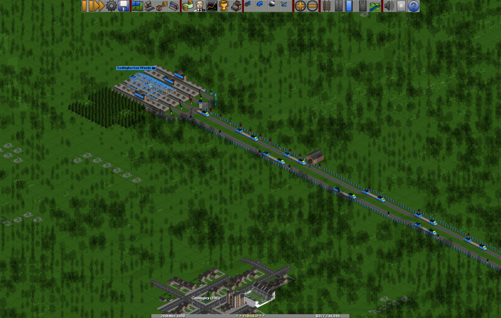 How to add multiple trains on a two way track