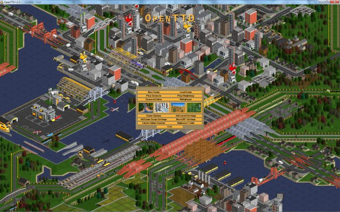 OpenTTD installing the game with HD graphics