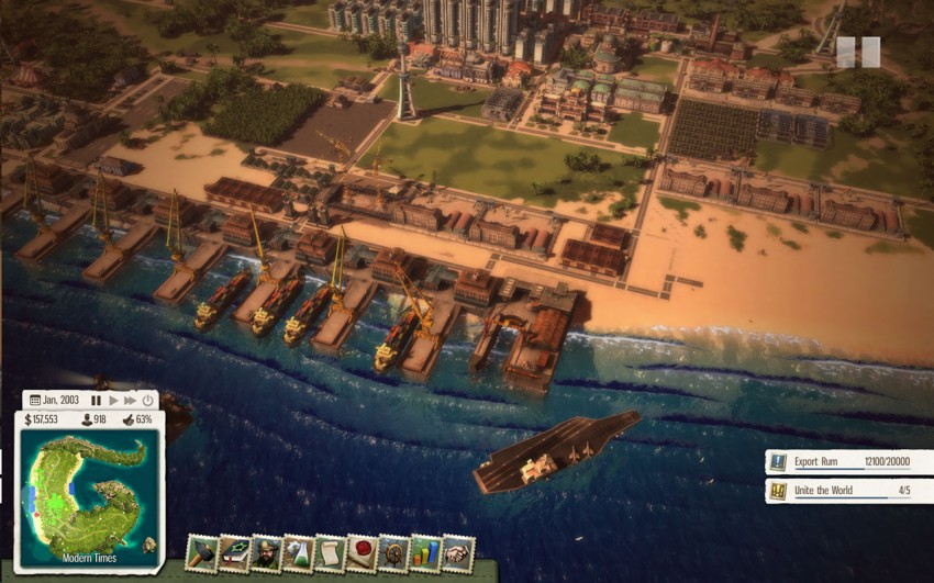 For this mission you will need to build enough docks and military defences