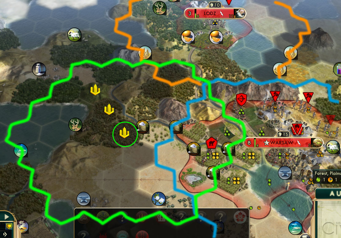 civ v brave new world city placement tile overlap when your city grows