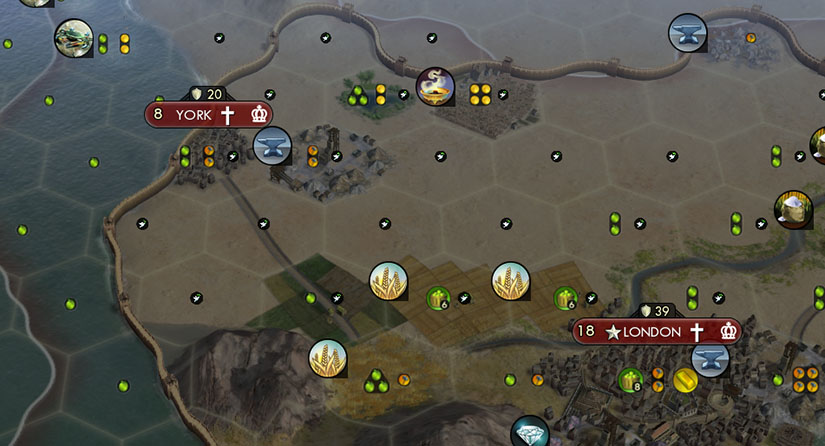 This Civilization V city is build in the desert