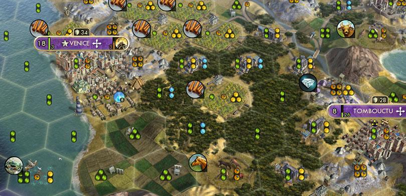 Civilization V Basics tile production show enabled