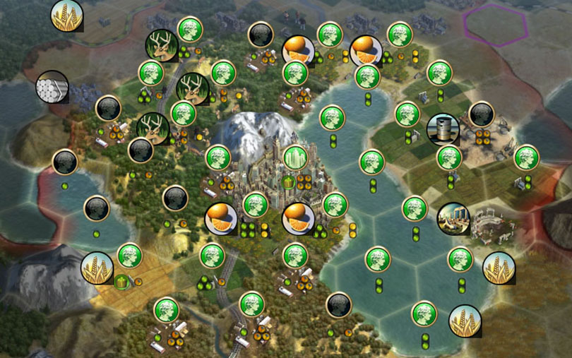 Civilization V Basics working city tiles