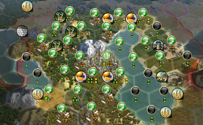 Civilization V Basics working city tiles production focus