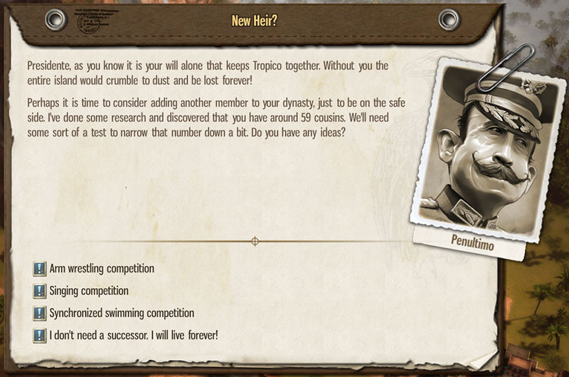 tropico5 new heir options