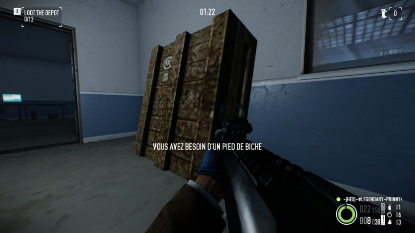 A crate containing a painting in Shadow Raid Heist