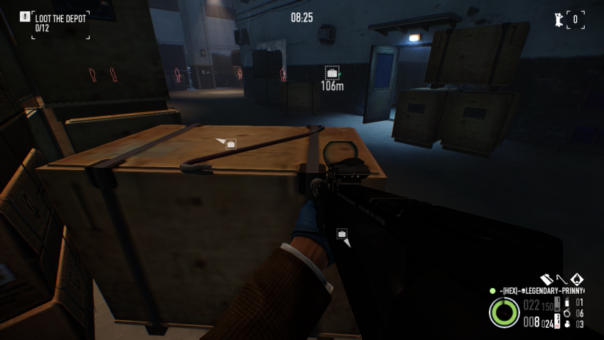 Crowbar on a crate near the vault in Shadow Raid Heist