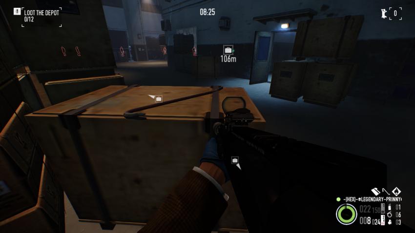 Crowbar on a crate near the vault in Shadow Raid Heist