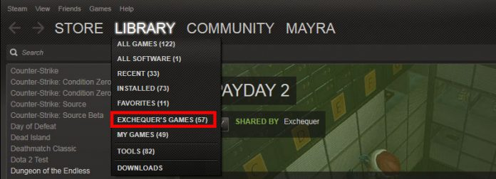 Now you can select and view the games your friend shared