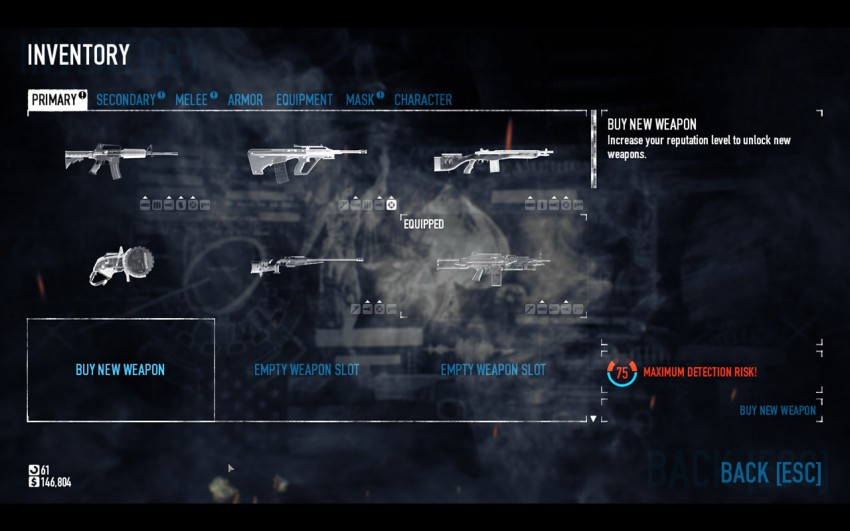 payday-2-equipement-weapons-how-to-equip-a-new-weapon