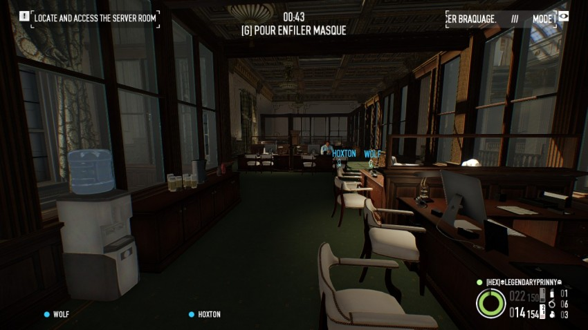 Payday 2 The Big Bank Heist first floor computer area