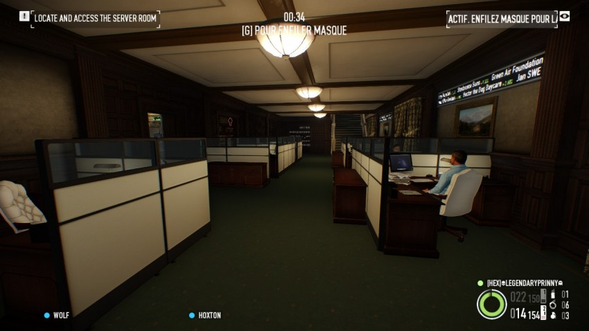 Payday 2 The Big Bank Heist ground floor computer area