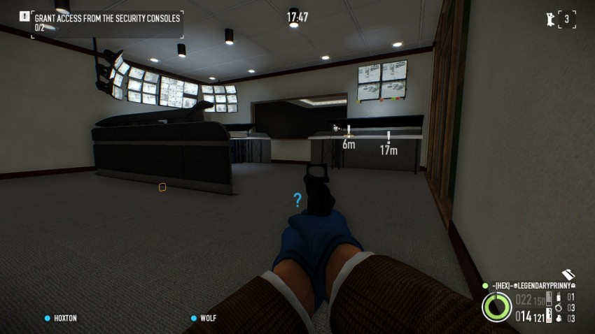 Payday 2 The Big Bank Heist the security area with the green button