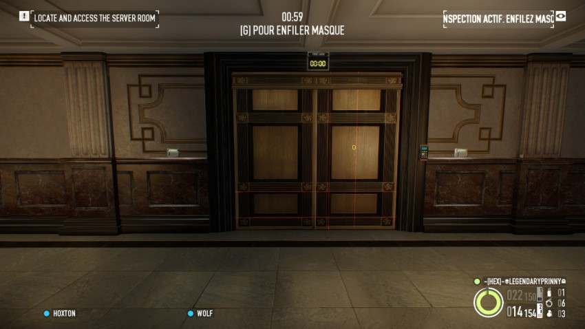 Payday 2 The Big Bank Heist the acces door to the vault area on the ground floor
