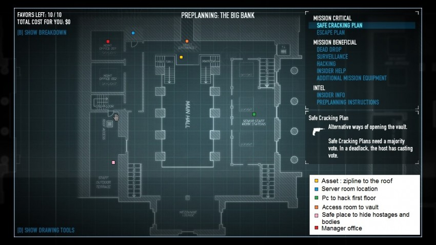 payday2 big bank heist guide first floor entrance map