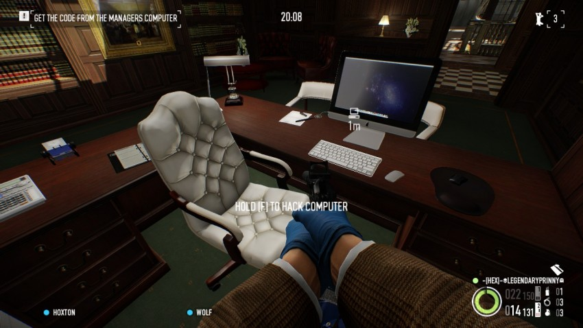Payday 2 The Big Bank Heist hack the computer in the managers office