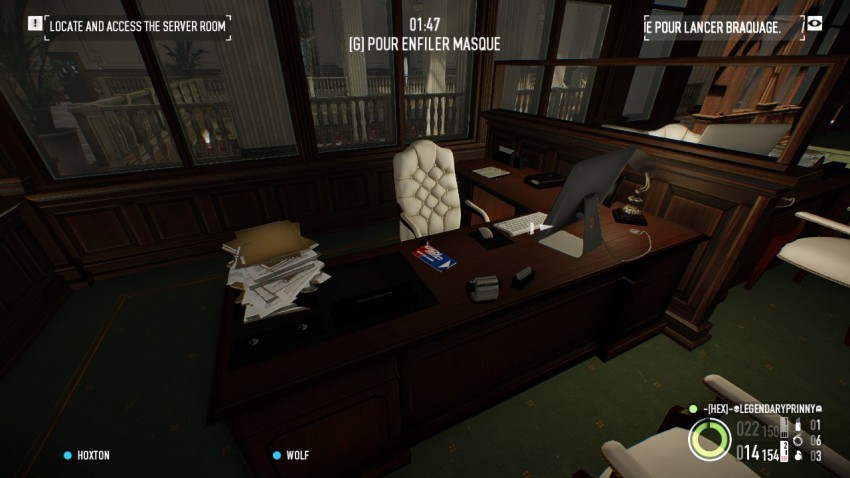 keycard location in the managers office in The Big Bank Heist
