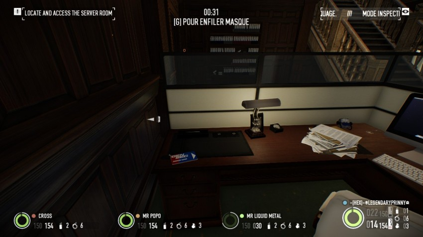 Keycard location in the office area in The Big Bank Heist
