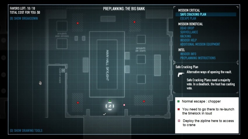 payday2 big bank heist guide roof map