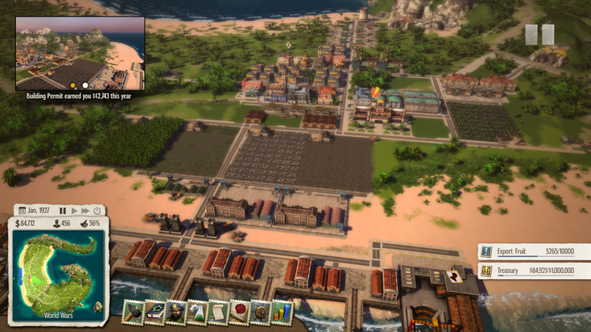 Tropico 3 Mission 12 Get-rich-quick. In 30-60 minutes you can get around the 2.5 million this map design resulted in.