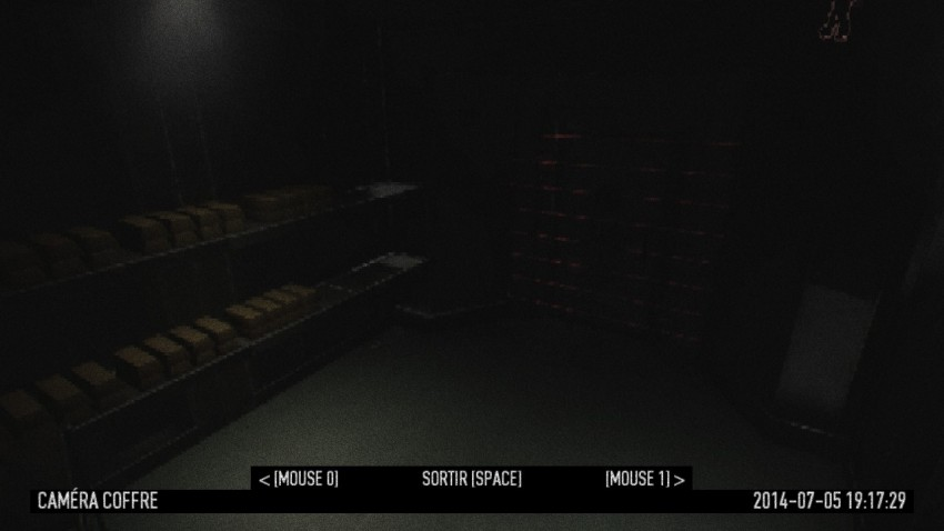 Example of the vault camera. This camera can help you locate the vault.