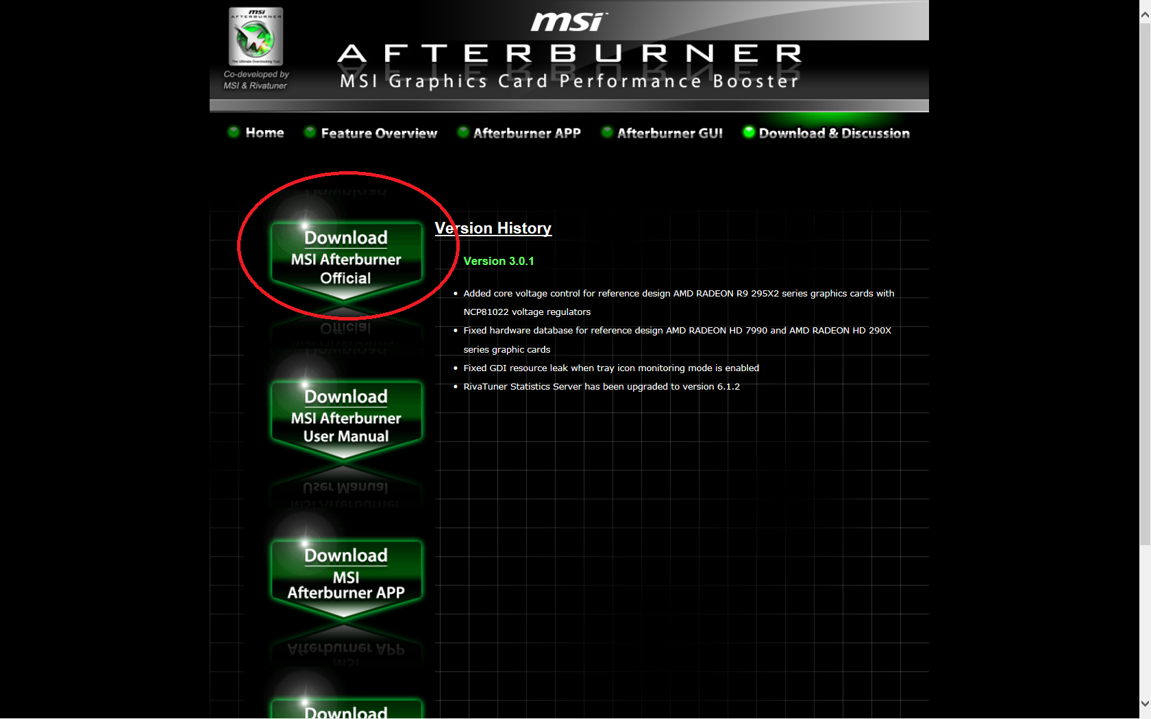 Msi afterburner app скачать
