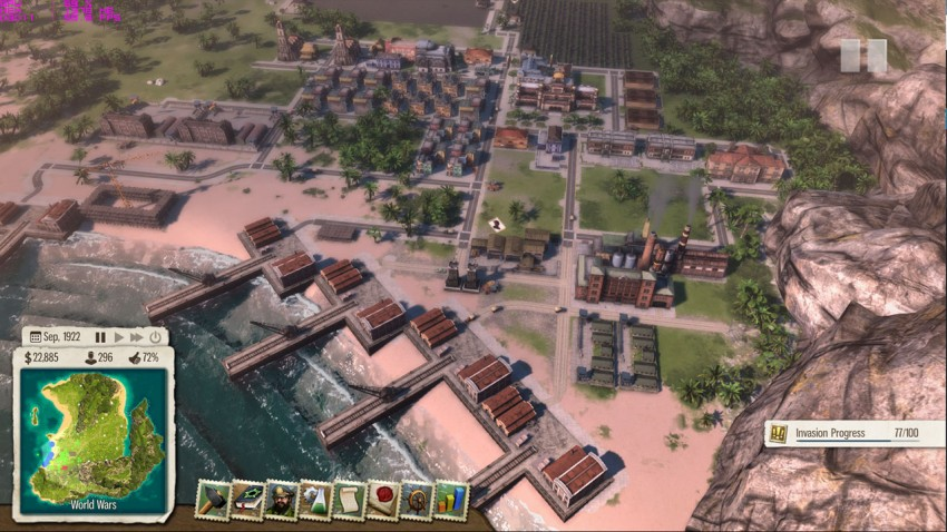 Tropico 5 mission13 The dogs of war. For this mission you need to build the largest military of the Caribbean.