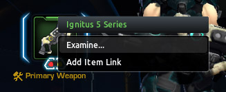 Removing a module in Firefall by right clicking and examining the item