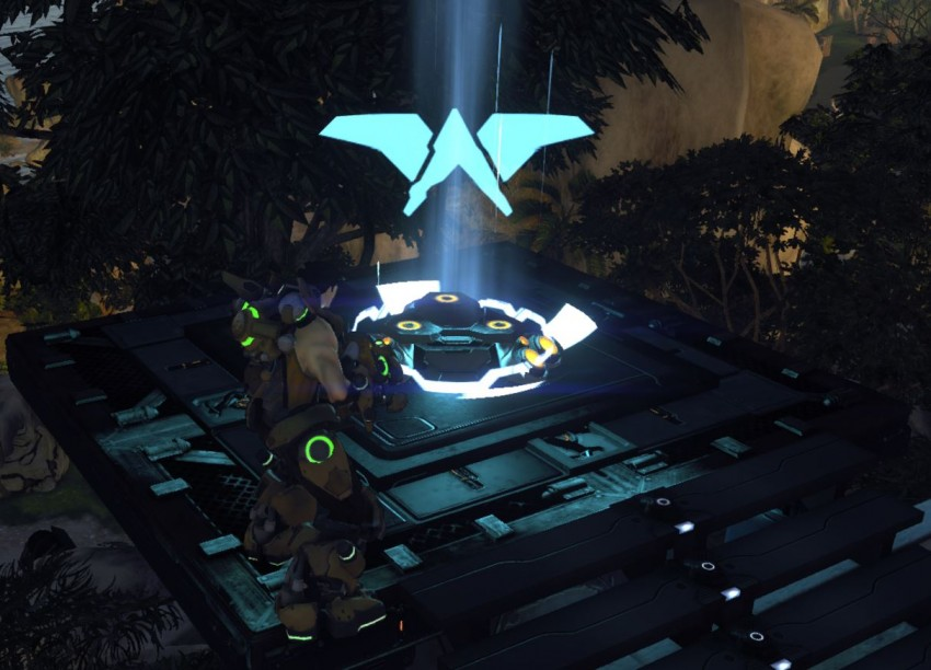 The glider pad in Firefall
