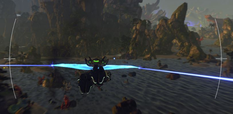 An example of good gliding in Firefall