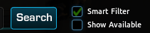 If you uncheck the Show Available button you can search for all the items in the game Firefall