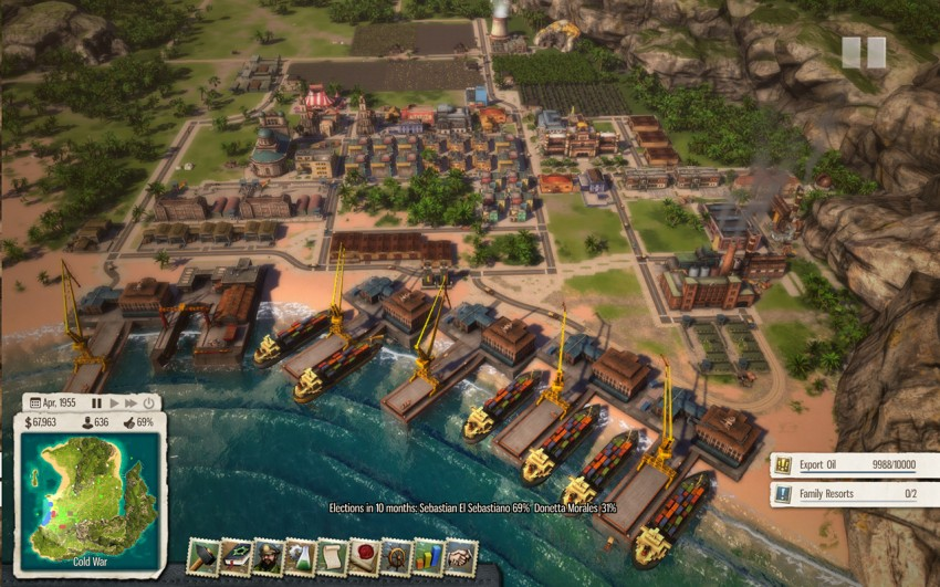 Tropico 5 Mission 15. For this mission you will need to flood the market with cheap oil.