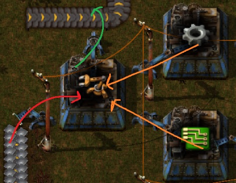 Factorio Guide Green Science Automation Yellow Inserter