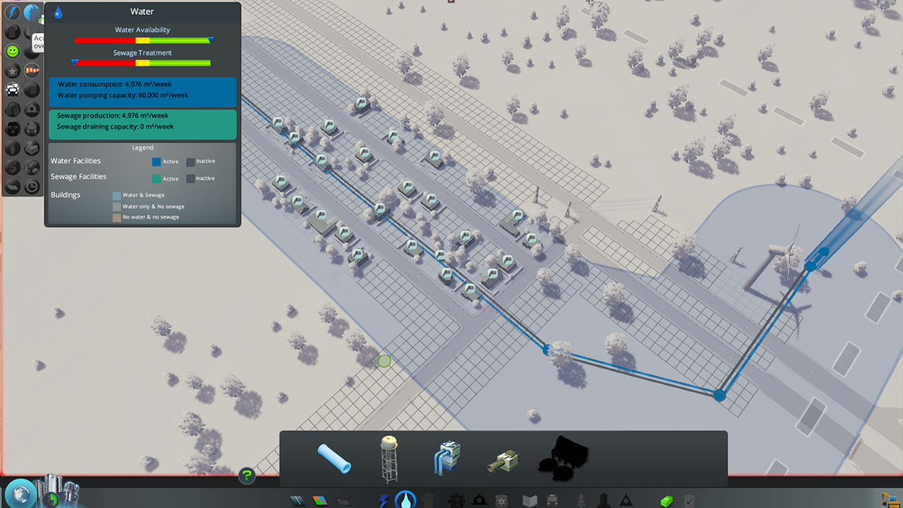 Cities Skylines Guide Beginner Tips And Tricks Gameplayinside Piping Layout The People In This Residential Zone Are Unhappy Because They Lack A Sewer Drain