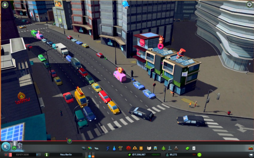 Cities Skylines with the graphic settings texture quality medium.