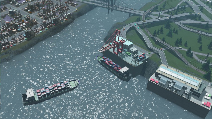 The Cargo Harbor allows your trucks to export or import goods. The cargo  harbor can only be constructed on rivers with a sea trade route available.
