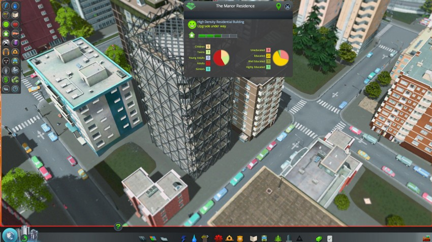 When your building levels up, it  will show reconstruction and a sound will be played.